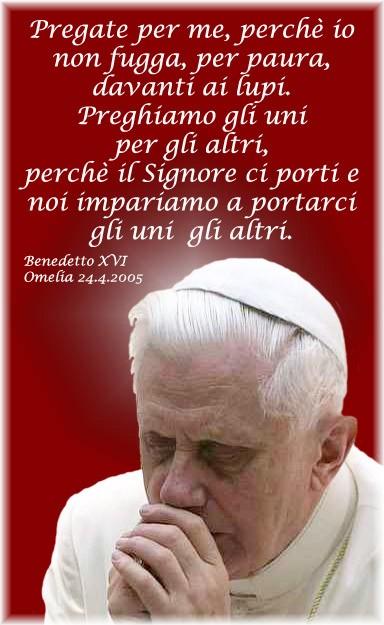 Benedetto XVI  Caterina che io non fugga davanti ai lupi